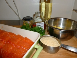 Salmon Fillet with Dill-Mustard-Honey topping Ronit Penso