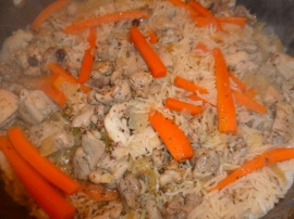 Chicken carrot rice pilaf Ronit Penso