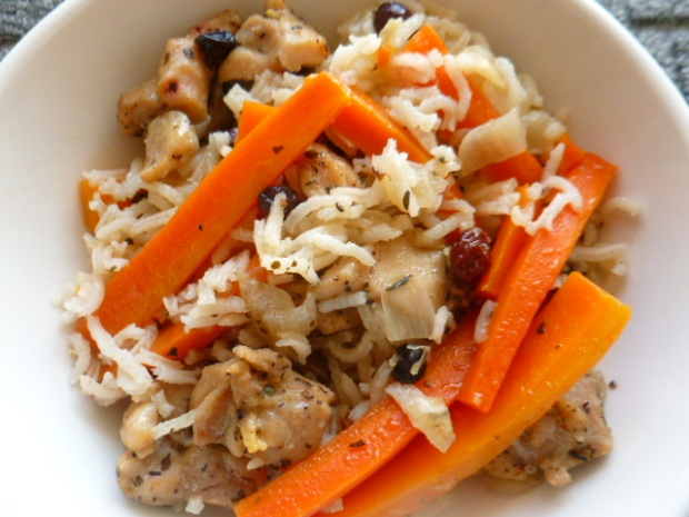 Chicken, Carrot and Dried Currants Rice Pilaf Ronit Penso