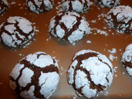 chocolate crackle cookies Ronit Penso