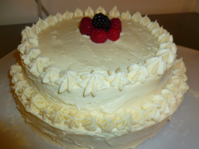 Sponge cake with maple rum butter cream Ronit Penso
