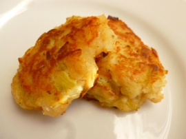 Leek potato patties Ronit Penso