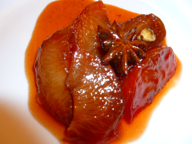 Spiced stewed plums Ronit penso