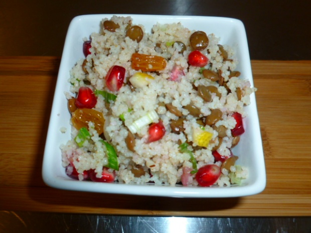Couscous, Lentil and Raisins Salad Ronit Penso