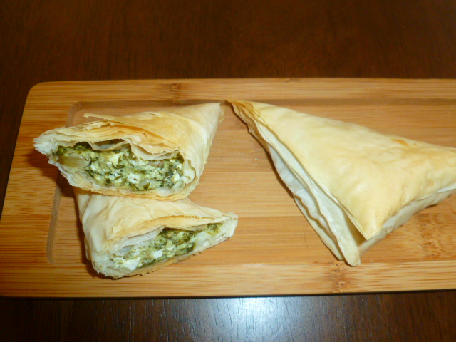 Herbs and Feta Cheese Fillo Triangles Tasty Eats Ronit Penso