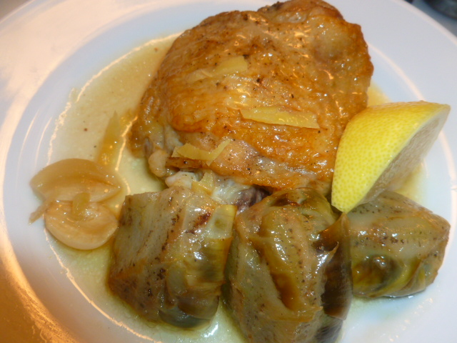 Chicken with Artichokes and Lemon Ronit Penso