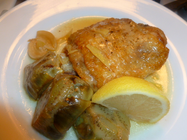 Chicken artichoke lemon Ronit Penso