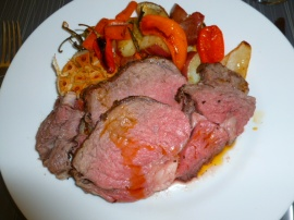 Roast Beef + Roasted Vegetables Ronit Penso