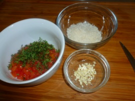 Shrimps and Grits with Tomatoes and Thyme Ronit Penso
