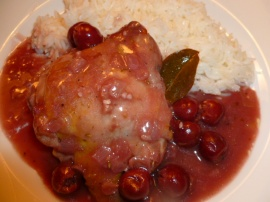 Chicken with Sour Cherries and Red Wine Ronit Penso