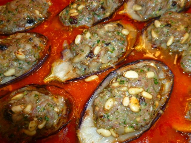 Lamb stuffed Mini Eggplants Halves Ronit Penso