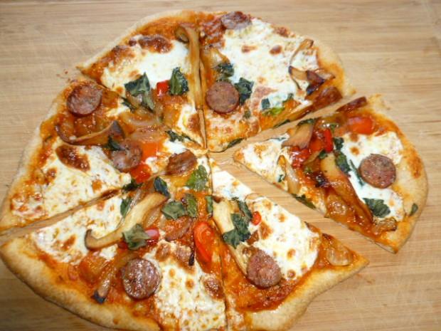 Crispy Spelt and Semolina Pizza Ronit Penso