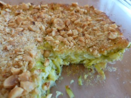 Zucchini Cheese Bake with Hazelnuts Topping Ronit Penso