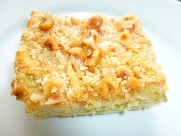 Zucchini Cheese Bake with Hazelnuts Topping Ronit Penso