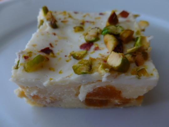 Yogurt, Dried Apricots and Pistachios Squares Ronit Penso