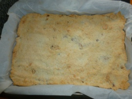 Spread ½ of the mixture on the baking paper.