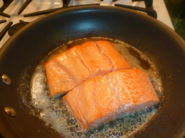 Asian style Salmon with Steamed Eggplant Ronit Penso