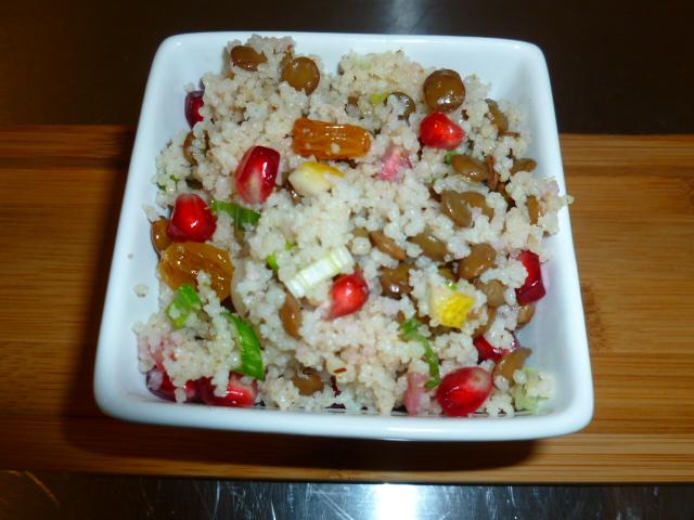 Couscous, Lentil and Raisins Salad Ronit Penso