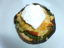 Portobello cap with pesto Ronit Penso