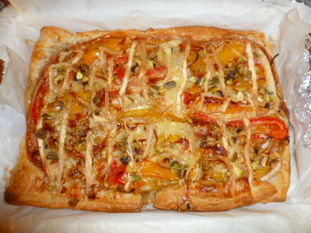 Brie, Peppers and Prosciutto Tart Ronit Penso