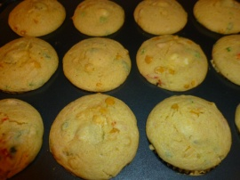 Corn Muffins with Italian Sausage and Goat Cheese Ronit Penso