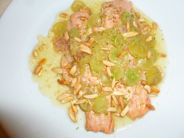 Red Trout with Grapes and Almonds Ronit Penso