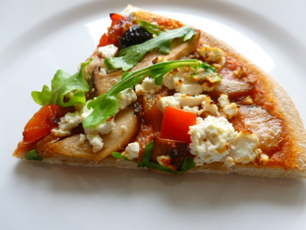 Crispy Pizza with Feta and Arugula Ronit Penso