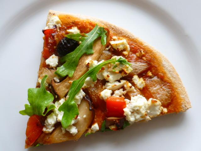 Crispy Pizza with Feta and Arugula Ronit Penso