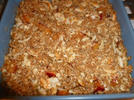 Pineapple, Plum, Hazelnut and Coconut Crisp Ronit Penso