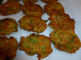 Zucchini, Carrots and Onion Fritters Ronit Penso