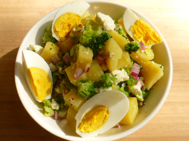 Yukon Gold Potato, Broccoli and Feta Cheese Salad Ronit Penso