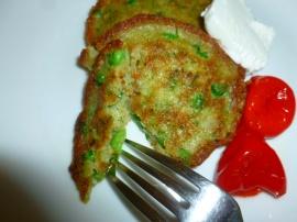Peas, Pesto and Coconut Savory Pancakes Ronit Penso