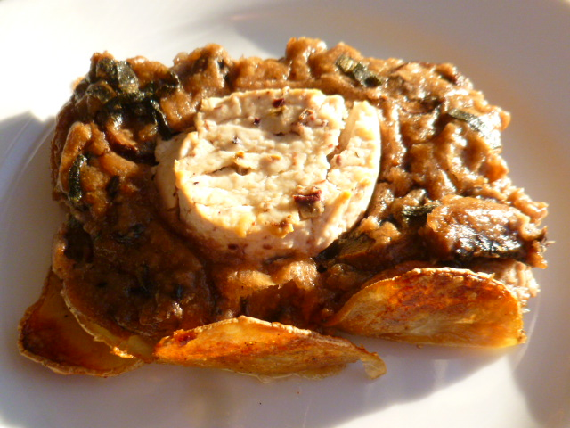 Mushrooms Tart with Potato Crust