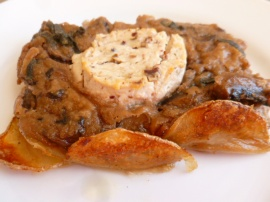 Mushrooms Tart with Potato Crust Ronit Penso