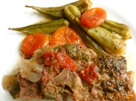 Lamb Stew with Tomatoes ,Okra and Dried Apricots Ronit Penso