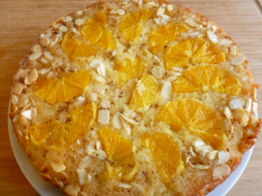 Upside down Orange Almond and Anise cake Ronit Penaso