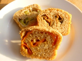 Multi Flour Bread stuffed with Roasted Vegetables Ronit Penso