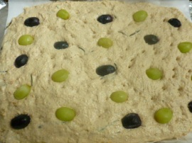Multi Grain Focaccia with Grapes and Rosemary Ronit Penso