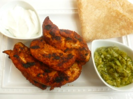 Spicy Chicken Tenders with Salsa Verde Ronit Penso