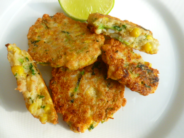 Corn and Shrimps Cakes Ronit Penso