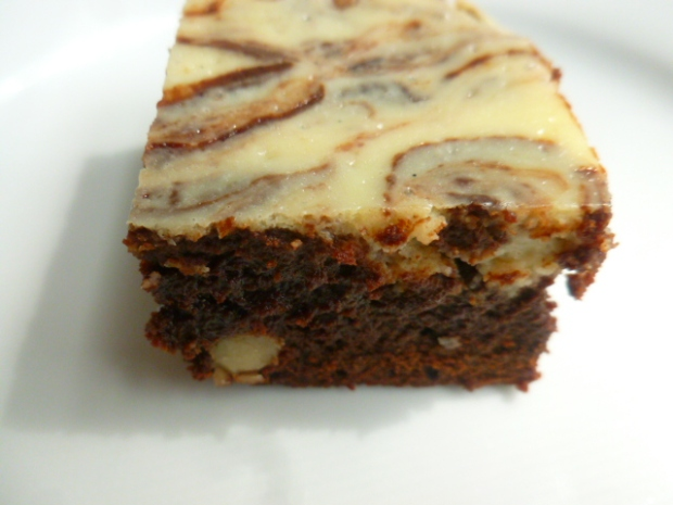 Spiced Brownies with Walnuts, Dried Cranberries and Cream Cheese Swirl Ronit Penso
