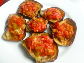Sephardic Tomatoes-Peppers Sauce with Fried Eggplants Ronit Penso