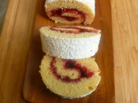 Orange Raspberry Jelly Roll Cake Ronit Penso
