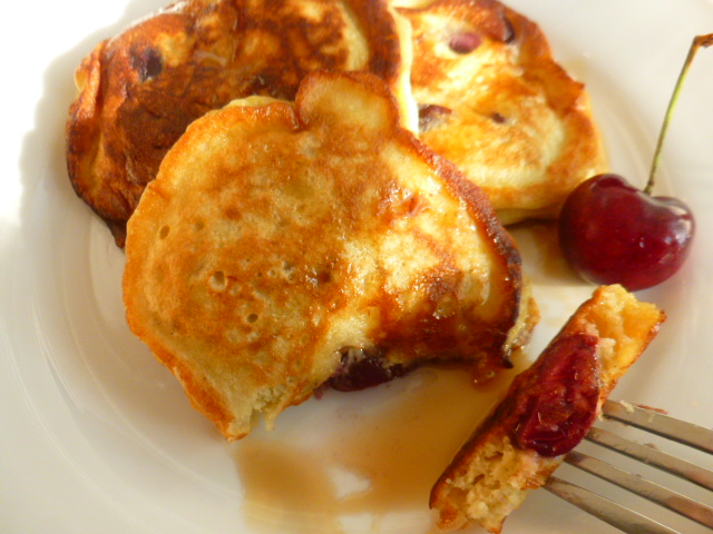 Banana Cherry Pancakes Ronit Penso