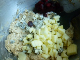 Goat Cheese, Apple and Beets Breakfast Bread Ronit Penso