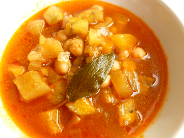 Eggplant and Chickpeas Soup Ronit Penso