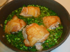 Chicken Thighs with Green Peas and Herbed Rice Ronit Penso