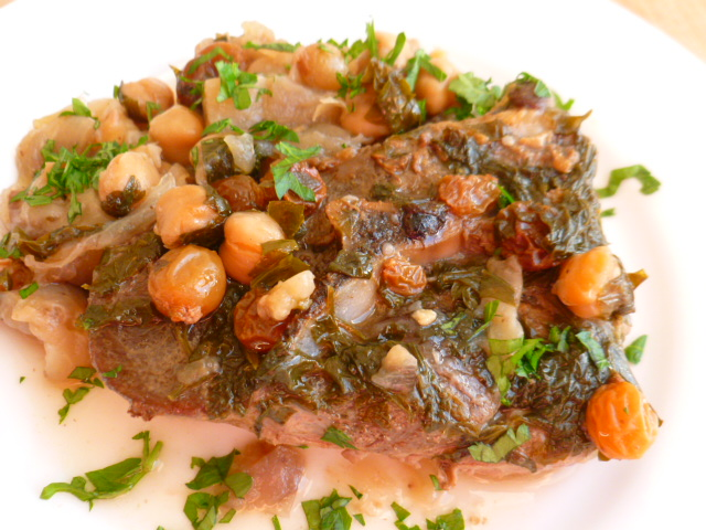 Lamb with Eggplant, Chickpeas and Raisins Ronit Penso