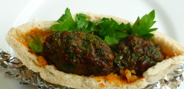 Beef Kebabs with Zhoug and Harissa Raw Onion Relish Ronit Penso